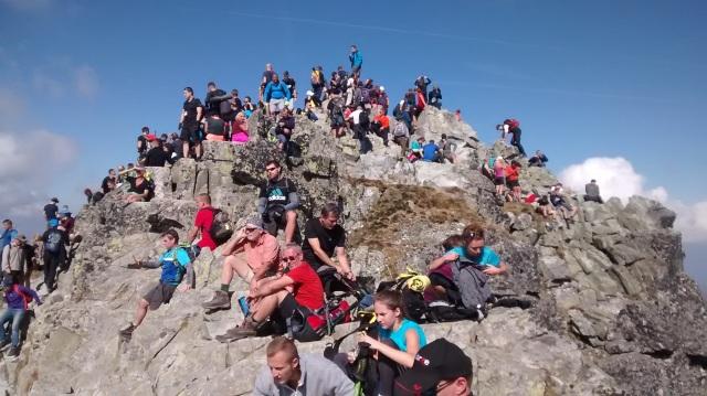 One of Rysy summits, crowded